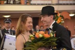 Svetlana und Werner Mix bei der Eröffnung des Balls.
