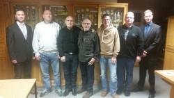 Die besten Schützen des Abends mit den Ausrichtern: Christoph Wiegand, Karsten Busse, LutzPralat, Bernd Emmrich, Sven Sander, Hartmud Hansch und Thomas Best (v.l.)