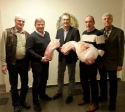 Sieger des Schweinepreisschießen 2016. v.l. Gerald Gretschel, Michael Troska, Dr. Alfred Buse, Werner Mix, Karl-Heinrich Belte