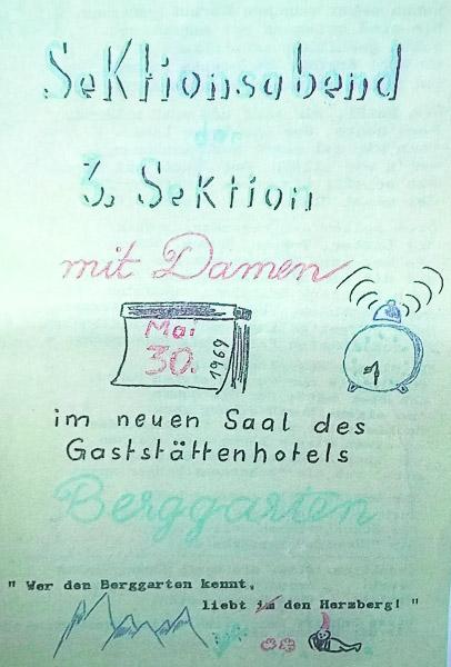 Einladung 3. Sektion 1969
