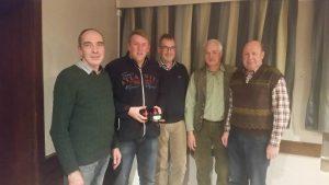 Die erfolgreiche Mannschaft der SGI mit dem Schützenmeister Werner Mix, Arnd Laskowski, Dr. Alfred Buse, Gerald Gretschel, Schießsportleiter Rüdiger Hoffmann. Achim Grete fehlte.